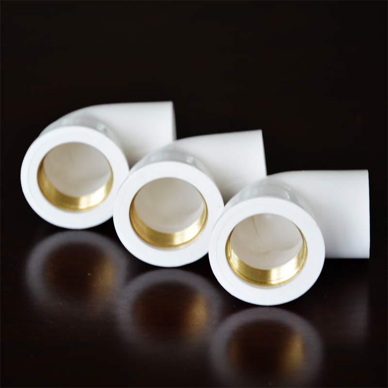 PVC给水配件 铜内丝弯