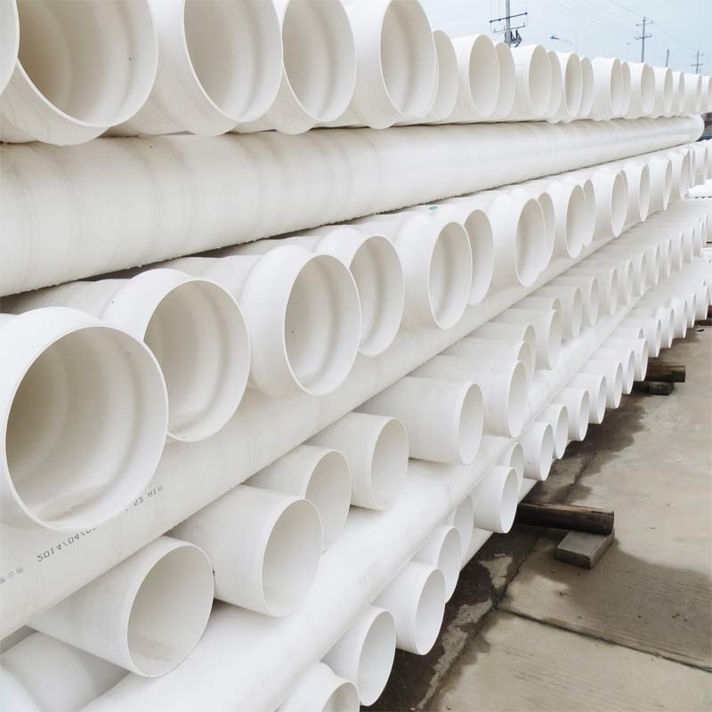 PVC-U扩口管PVC给水管160厂家直销PVC平扩给水管道出厂价